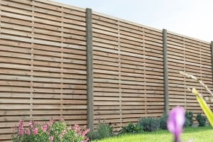 Forest 5'11 x 5'11 Pressure Treated Contemporary Double Slatted Fence Panel