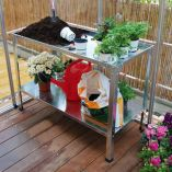 Palram Silver Steel Work Bench for Greenhouses