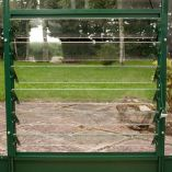 Green Louvre Vent - Toughened Glass