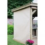 4m Hexagonal Garden Gazebo Curtains - Cream