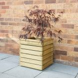 Forest Linear Square Wooden Garden Planter 1'x1' (0.4x0.4m)
