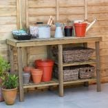 Forest Shed and Garage Wooden Workbench 3'11 x 1'4