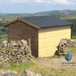 10'x7' SkyGuard EPDM Garden Building & Shed Roof Kit - Replacement Covering
