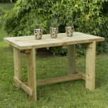 Forest Refectory Wooden Garden Table 4'x2' (1.2x0.7m)