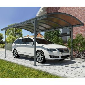 17'x10' (5.1x3m) Palram Vitoria 5000 Grey Metal Carport