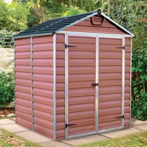 6'x5' Palram Amber Skylight Plastic Shed