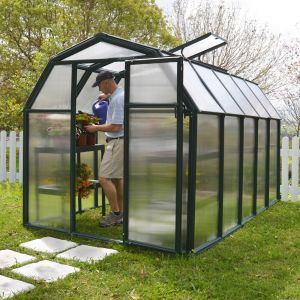 Rion EcoGrow 6x10 Green Greenhouse with Resin Frame