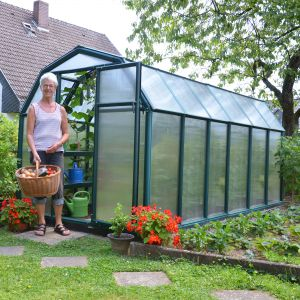 Rion EcoGrow 6x12 Green Greenhouse with Resin Frame
