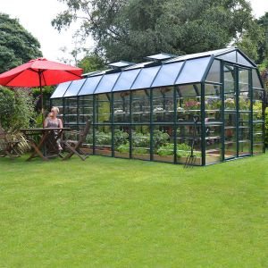 8'x16' (2.4x4.8m) Palram Rion Clear Grand Gardener Greenhouse