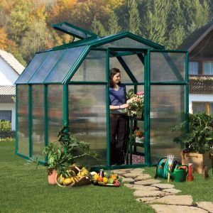 Rion EcoGrow 6x6 Green Greenhouse with Resin Frame
