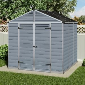 8x8 Palram Grey Skylight Shed