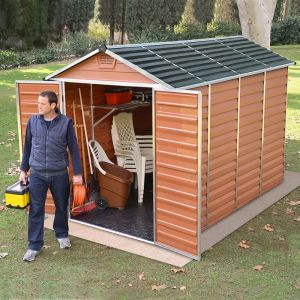 6'x10' Palram Amber SkyLight Plastic Shed