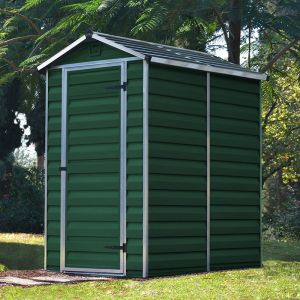 4' x 6' Palram Dark Green Skylight Plastic Shed (1.21m x 1.77m)
