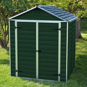 6' x 5' Palram Dark Green Skylight Plastic Shed (1.85m x 1.54m)