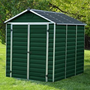 6' x 8' Palram Dark Green Skylight Plastic Shed (1.88m x 2.39m)