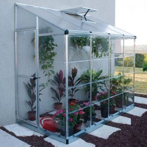 8'x4' (2.4x1.2m) Palram Lean To Silver Hybrid Grow House