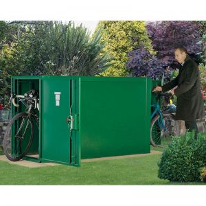 2'11 x 6'3 Asgard Premium Double Ended Metal Bike Shed (0.9m x 1.9m)
