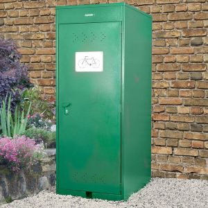 2'6 x 3'6 Asgard Premium Vertical Bike Storage Locker (0.8m x 1.1m)