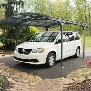 16x10 Palram Grey Carport Atlas 5000