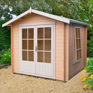 7x7 (2.1x2.1m) Barnsdale 19mm Log Cabin