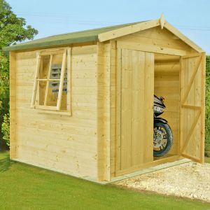8x8 Shire Bradley 19mm Double Door Cabin