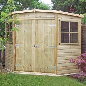 7'x7' (2.1x2.1m) Shire Pressure Treated Corner Shed