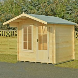 7x7 (2.1x2.3m) Crinan 19mm Log Cabin