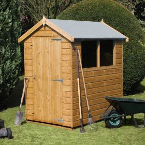 6 x 4 Traditional Standard Apex Wooden Garden Shed
