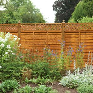 Forest Diamond Lattice Fence Topper 183 x 30cm