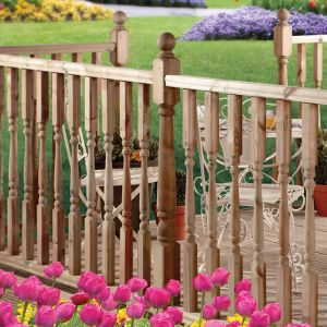 Turned Edwardian Deck Post Including Ball Cap 82x82x1250mm