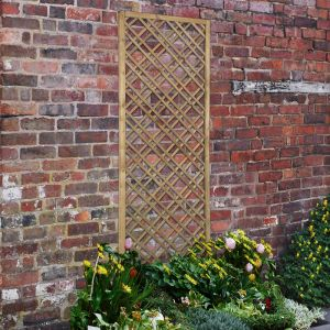 Forest 6'x2' Double Slatted Diamond Lattice (1.8 x 0.6m)
