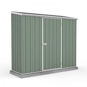 7'5 x 2'7 Absco Space Saver Pent Metal Shed - Pale Eucalyptus