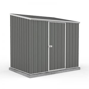 7'5 x 5' Absco Space Saver Pent Metal Shed - Grey