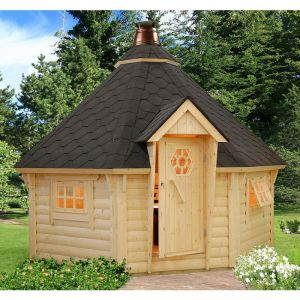 11'x11' (3.3 x 3.3m) Palmako Kim 44mm Log Cabin BBQ Hut