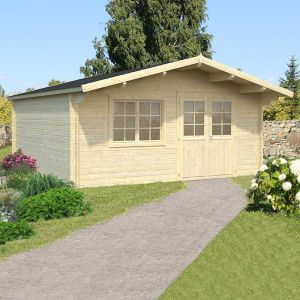 17x15 (5.1x4.5m) Palmako Britta 40mm Log Cabin