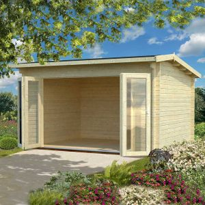 14x11 (4.2x3.3m) Palmako Ines 44mm Log Cabin