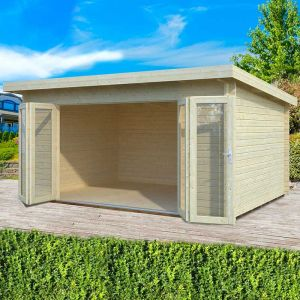 16x12 (4.8x3.6m) Palmako Lea 44mm Log Cabin
