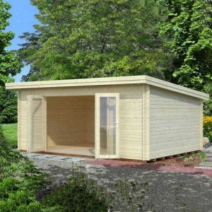 18x13 (5.4x3.9m) Palmako Lea 44mm Log Cabin