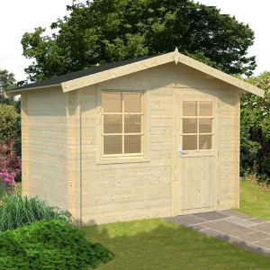 10'x7' (3x2m) Palmako Klara 28mm Log Cabin