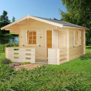 12x12 (3.6x3.6m) Palmako Sylvi 34mm Log Cabin