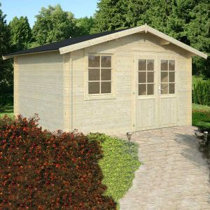 13x11 (3.9x3.3m) Palmako Klara 28mm Log Cabin
