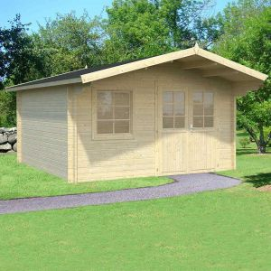 14x14 (4.2x4.2m) Palmako Britta 40mm Log Cabin