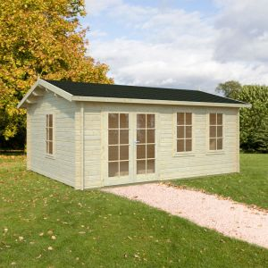 17x13 (5.3x4.1m) Palmako Isabel 44mm Log Cabin