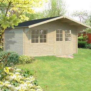 15x15 (4.5x4.5m) Palmako Britta 40mm Log Cabin