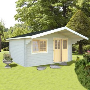 16x13 (4.8x3.9m) Palmako Sally 44mm Log Cabin