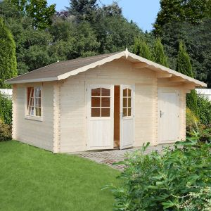 15'x11' (4.7 x 3.5m) Palmako Emma 34mm Log Cabin