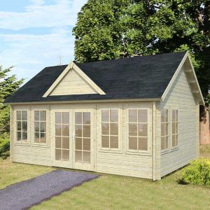18x13 (5.4x3.9m) Palmako Claudia 44mm Log Cabin