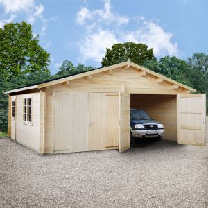 19x17 (5.7x5.1m) Palmako 44mm Double Garage - Double Doors