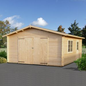 15x18 Palmako Extra Wide Single 44mm Garage - Double Doors