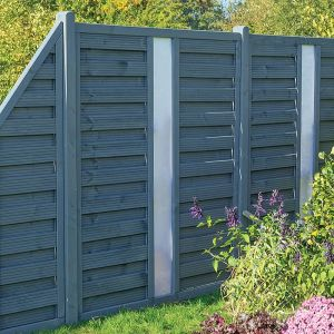 Rowlinson 6' x 6' Palermo Grey Fence Panel with Opaque Infill (1.8m x 1.8m)
